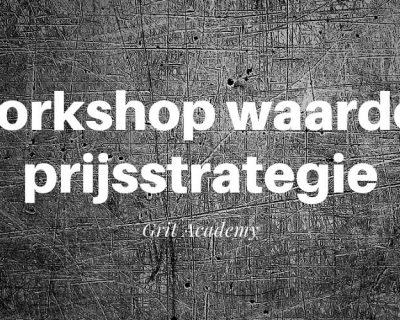 Workshop Waardengedreven prijsstrategie